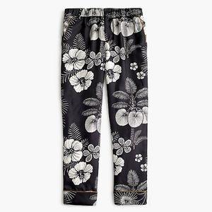NWT J. Crew Silk Floral Printed Easy Pants sz 00